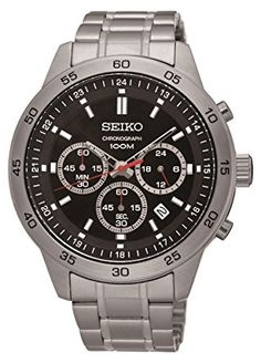 Gorgeous: Men's Stainless S... Check it out here! http://www.musthaveshoesandmore.com/products/mens-stainless-steel-black-dial-chronograph-analog-sports-watch?utm_campaign=social_autopilot&utm_source=pin&utm_medium=pin