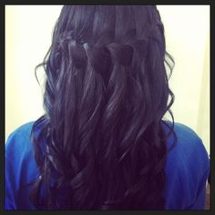 #hair #hairstyle #updo #long #hair #hairline #brunette #blonde #loose #curls #style #fashion #red #style #pink #colour #color #tint #hairdressing #hairdresser #haircut #hair #southafrica #love #unique #waterfall #braid