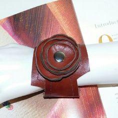 HANDMADE  Jewelry - HANDMADE GENUINE LEATHER IN RED SOFT CUFF BRACELET