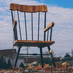 World S Largest Rocking Chair Under Construction Casey