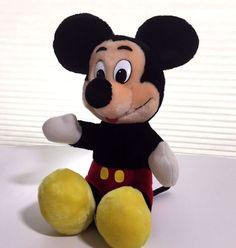"Mickey Mouse Plush Walt Disney Productions Korea 10"" Disneyland Vintage Parks #WaltDisneyProductions"