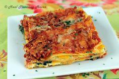 Roasted Butternut Squash 'n Spinach Lasagna