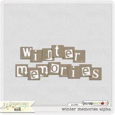 Winter Memories alpha freebie from Sugary Fancy Designs