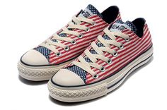 c9ce091f69cf Converse All Star Chuck Taylor lo-top American flag Red
