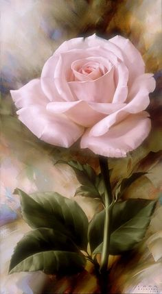 Floral Art - pink rose painting by Igor Levashov Arte Floral, Love Rose, Pretty Flowers, Beautiful Paintings, Beautiful Roses, Flower Art, Flower Power, Amazing Art, Artsy