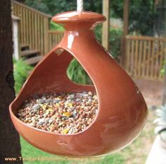Clay Bird Feeder