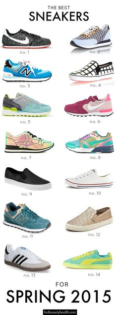 Spring Fashion: Sneakers have come in a plethora of colors and styles this spring. Check out our list to shop the best sneakers for spring 2015!