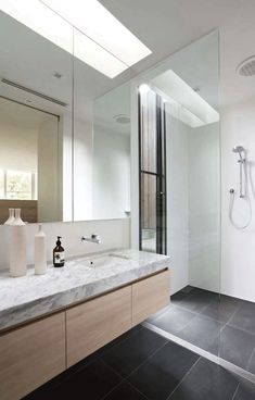 39 dark grey bathroom floor tiles ideas and pictures Grey Bathroom Floor, Wood Bathroom, Laundry In Bathroom, Grey Bathrooms, Bathroom Renos, Bathroom Layout, Bathroom Flooring, Bathroom Interior, Bathroom Ideas