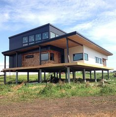 Our Studio & Process Building A Container Home, Container Buildings, Container Architecture, Container House Plans, Architecture Design, Home Building Design, Building A House, Tyni House, House On Stilts