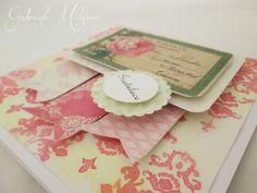 Gabi M. craftuje: CARDS Vintage Roses Vanilla & Peach
