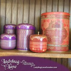 LadyBug Lane - Unique Home Decor and Gifts. Located in a beautiful, home-style location in downtown West Dundee, Il. Fun gifts for every occasion! Dundee, Unique Home Decor, Home Decor Items, Coffee Cans, Decoration, Cool Gifts, Ladybug, House Styles, Fun