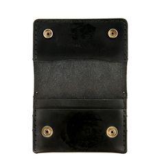 Edison Akron Leather Wallet Black   ShopPigment