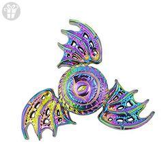 OLD TEUCER Rainbow Bat Wings Eagle Eye EDC Tri Fidget Hand Spinner Fingertip Gyro Desk Focus Toy For Adults Kids - Fidget spinner (*Amazon Partner-Link)