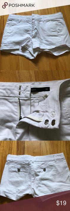 Harper white shorts Shorts from Francesca's Harper Shorts