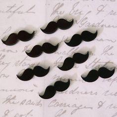 8 x Laser cut acrylic moustache cabochons by SVJewellery on Etsy, $5.00