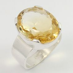 925 Sterling Silver Delicate Ring Size US 6.5 Natural CITRINE Gemstone Best Gift #Unbranded