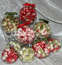 Curled paper glass ornaments