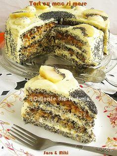 Tort cu mac si mere ~ Culorile din farfurie