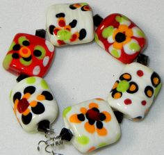 Handmade Lampwork Glass Colorful Bead Set by by DIFDesignsBeads, $24.00