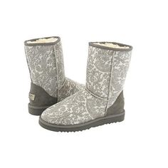 grey uggs ❤ liked on Polyvore