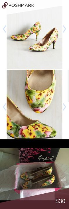 New Modcloth Qupid heels women size 7.5 Brand new with box Manmade material  Women size 7.5 Fast shipping Qupid Shoes Heels