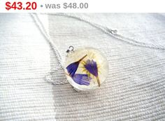 ON SALE 10 % Handmade orb necklace with and by FlyForSevenSky