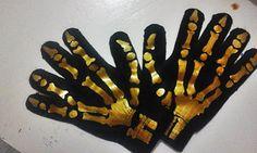 Par De Luvas Esqueleto Rock Emo Gótico Ossos Em Dourado - R$ 14,99 no MercadoLivre