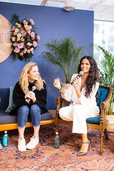 Brooklyn Decker & Camila Alves speaking at the Create and Cultivate event in Austin, TX