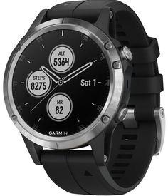 0295996568c3d1 Garmin Watch Fenix 5 Plus Silver Black Band