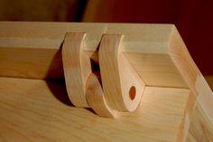 Solid Wood Hinge Detail