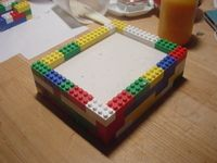 Make molds out of Legos rather than cottle boards.  They don't stick to plaster and are easy to disassemble, and assemble to the right size.