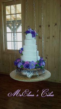 Swing wedding cake