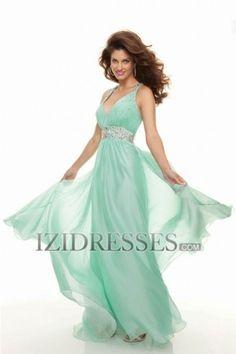 Sheath/Column Straps Chiffon Prom Dress - IZIDRESSES.COM