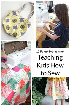 Sewing Projects for Teaching Kids & Beginners | Diary of a Quilter - a quilt blog Sewing Machine Projects, Sewing Projects For Beginners, Quilting Projects, Quilting Designs, Quilting Tips, Quilting Tutorials, Sewing Machines, Diy Projects, Sewing Blogs