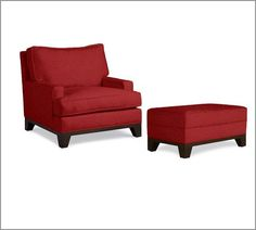 maybe instead of chaise - seabury armchair and ottoman