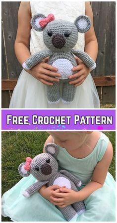 Amigurumi Koala Bear - A Free Crochet Pattern - : Klicke um das Bild zu sehen. Amigurumi Koala Bear – A Free Crochet Pattern – Amigurumi Free, Crochet Amigurumi, Crochet Bear, Crochet Gifts, Cute Crochet, Crochet Dolls, Easy Crochet Animals, Crotchet, Crochet Doll Tutorial