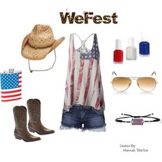 My ideal outfit for WeFest!!  Created by hannahtollefson on Polyvore