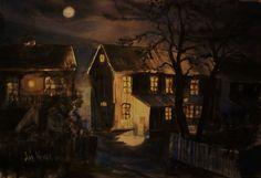 Night Watercolour, My Arts, Night, Painting, Pen And Wash, Watercolor Painting, Watercolor, Painting Art, Paintings