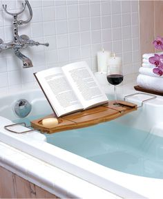 Umbra Bath Accessories, Aquala Bathtub Caddy - Shower Curtains & Accessories - Bed & Bath - Macy's -- NEED THIS!