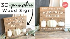 Here's how to make Fall wood signs using products from the Dollar Tree & Target. Fall Decor Signs, Fall Wood Signs, Diy Wood Signs, Fall Home Decor, Dollar Tree Decor, Dollar Tree Crafts, Dollar Tree Fall, Hacks, Fall Crafts