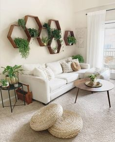 Find out Where to Buy Every Single Thing in This Plant-Filled Bohemian Living Room &; Jeder von uns h&; Find out Where to Buy Every Single Thing in This Plant-Filled Bohemian Living Room &; Jeder von uns h&; Living Room Interior, Living Room Chairs, Dining Room, Living Room Wall Ideas, Art For Living Room, Living Room Wall Shelves, Interior Livingroom, Living Room Decor Ideas With Sectional, Wall Decal Living Room