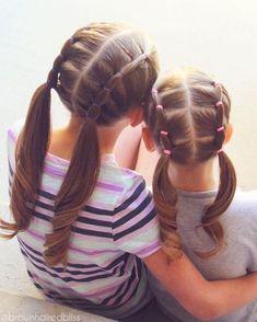 """Mi piace"": 2,049, commenti: 24 - ANGIE HAIR TUTORIALS (@brownhairedbliss) su Instagram: ""Twinning! #bhbbubbleloopbraid #bhbelasticstyle #bhbpigtails"""