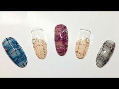 [시크릿스타걸] 트위드 네일아트 / Tweed nail art   POLARIS - YouTube