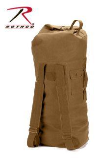 aca8678e4e42 Rothco s Canvas Double Strap Duffle Bag features a heavyweight cotton canvas