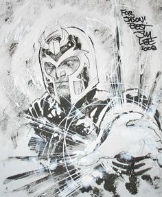 Magneto by Jim Lee Jim Lee can always make anyone look better and more appealing
