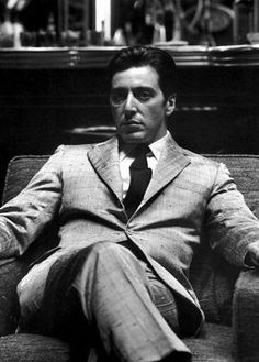 Al Pacino...aka Michael Corleone. Chillingly perfect in that role.