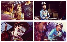 Luke and Clementine asking if the other is okay   The Walking Dead (Telltale Game) scenes and quotes