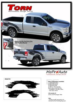 Ford F RACER RIP Side Truck Bed Mudslinger - Truck bed decals customford f vinyl graphics for bed fender