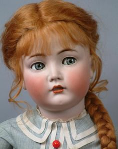 """Kammer & Reinhardt """"MEIN LIEBLING' Flirty Character Child with Antique Dress jigsaw puzzle for free. Victorian Dolls, Vintage Dolls, Girl Dolls, Baby Dolls, Porcelain Dolls Value, Porcelain Tiles, Porcelain Jewelry, Fine Porcelain, China Dolls"""