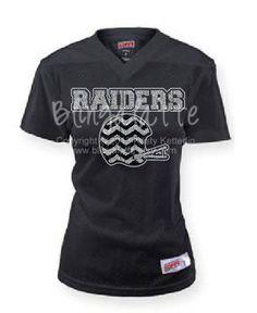 Raider Football Jersey Chevron Football Jersey by Blingalatte e3a87a38f